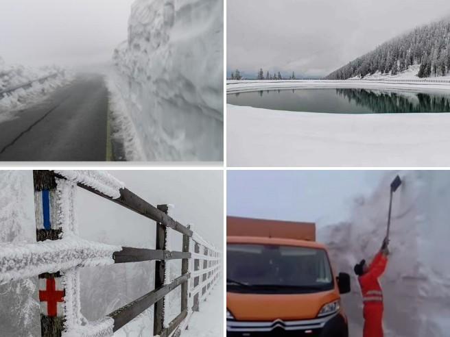 Maltempo: in Romania quattro metri di neve