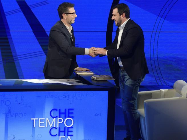 Salvini su Fazio: «Talk politico pagato dagli italiani». Il Pd:  «Censura»|Ma lo stipendio adesso verrà tagliato?