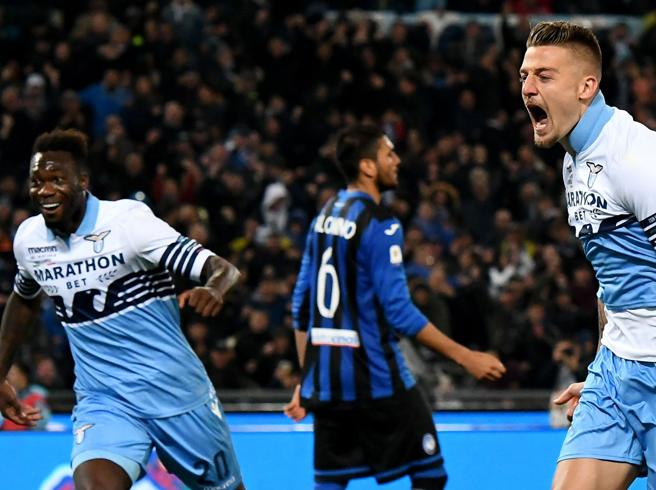 La Coppa Italia alla LazioDecidono Milinkovic e Correa Furia Gasperini sull'arbitro