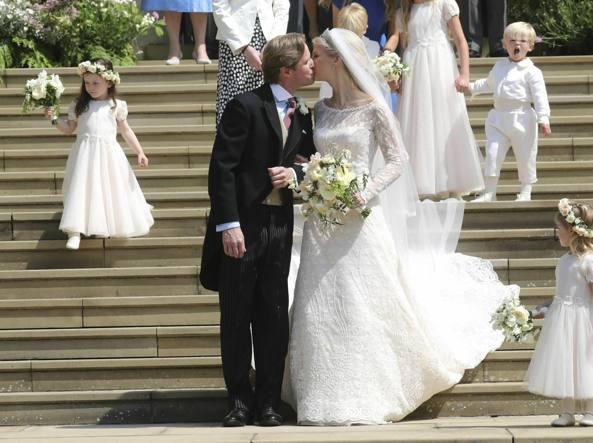 0278fb30e951 Gabriella di Windsor e l abito da sposa italiano  «Quattro metri di  strascico