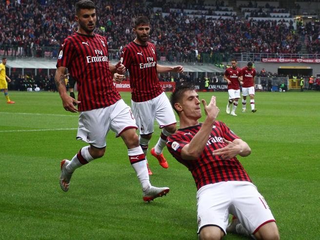 Milan-Frosinone 2-0 |  Piatek e Suso segnano |  i rossoneri  restano in corsa  Champions