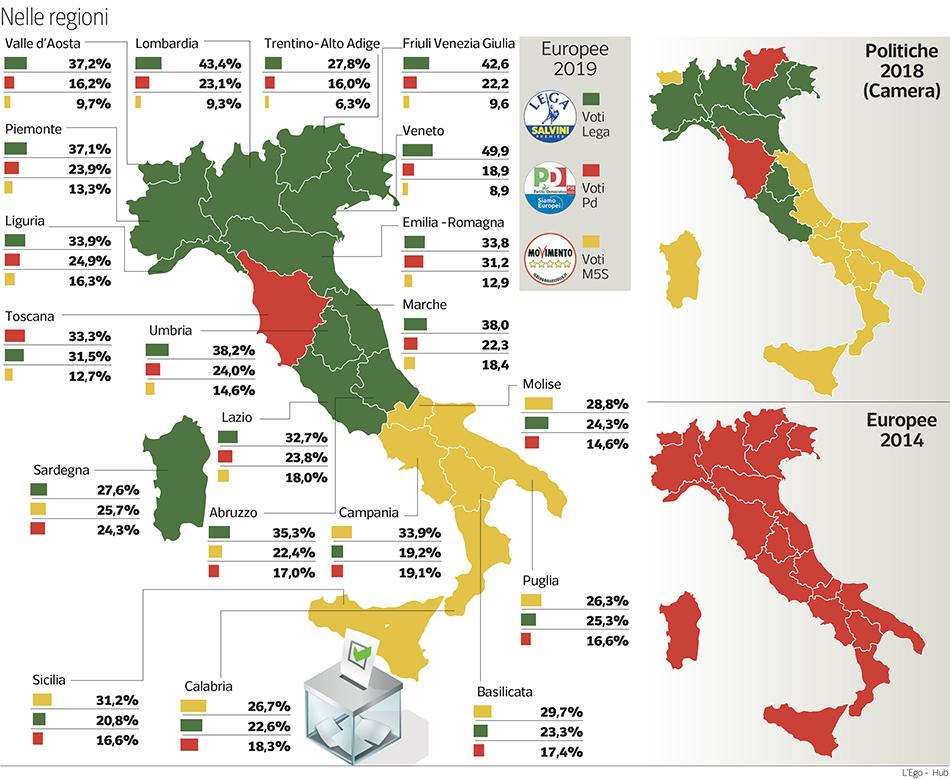 Cartina Italia Economica.Elezioni La Mappa Dei Nuovi Colori Dell Italia Dopo Il Voto Corriere It