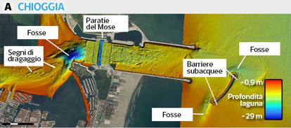 I fondali della laguna devastati dalle navi da crociera