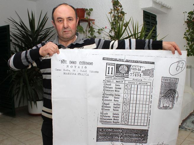 Il tragico destino di Martino, morto senza riscuotere il 13 miliardario La schedina