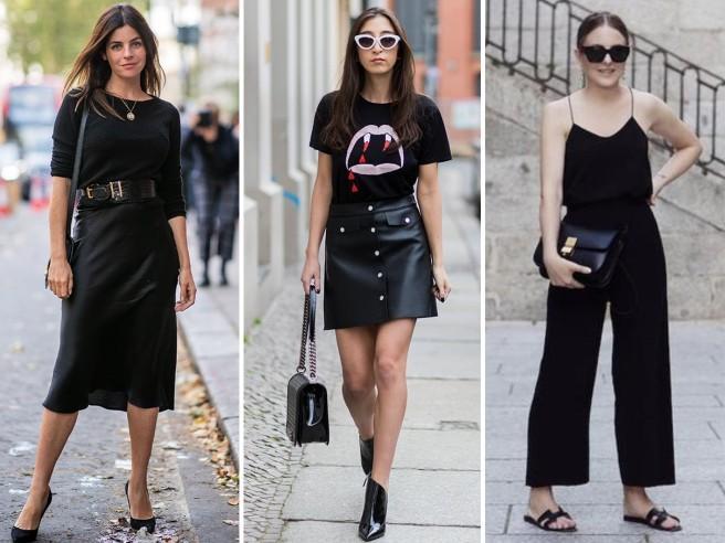 Come indossare il total black anche in estate (senza morire di caldo)