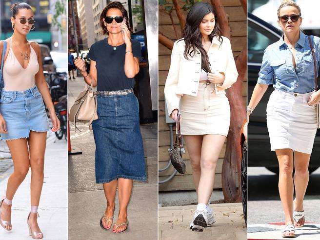 Gonna di jeans, come sceglierla copiando le celebrità