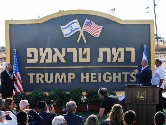 Inaugurato insediamento sul Golan in onore di Trump