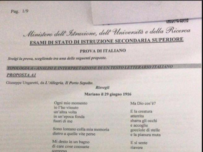 Maturità 2019, da Bartali a Ungaretti. Le tracce e i comment