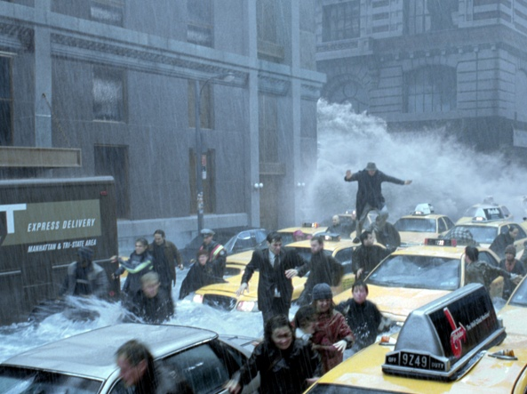 L'oceano sommerge New York: una scena dal film «The day after tomorrow»