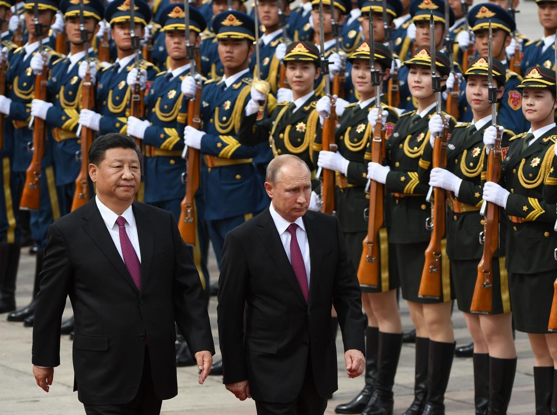 I presidenti della Cina e della Russia, Xi Jinping e Vladimir Putin (Afp)