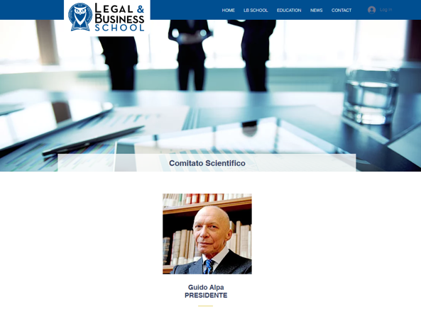 Lo screenshot tratto dal sito della Legal & Business School