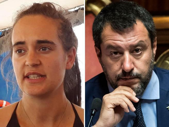 Carola Rackete querela Matteo Salvini: «Sequestrate i suoi account Facebook e Twitter»
