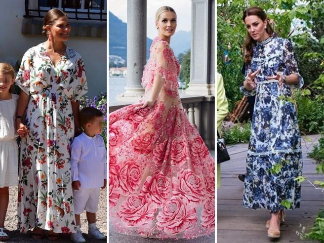 L'abito lungo a fiori conquista celebrità e lady reali: i look da copiare