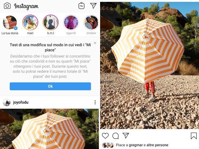 Instagram, ecco perché non vedete più  il numero di like delle   foto