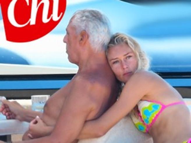 Marco Tronchetti Provera in vacanza con una giovane modella, Afef Jnifen si sposa per la quarta volta