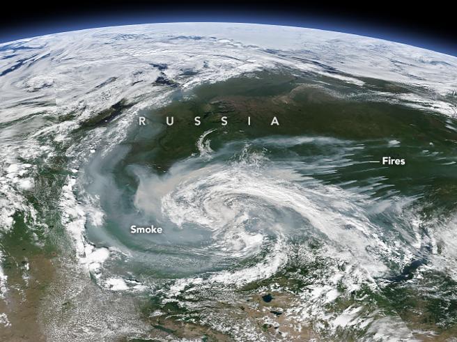 Incendi «senza precedenti» in Siberia e Alaska, a nord del circolo polare artico