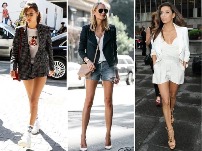 Giacca e shorts: 9 modi per indossarli in base alla figura (copiando le star)