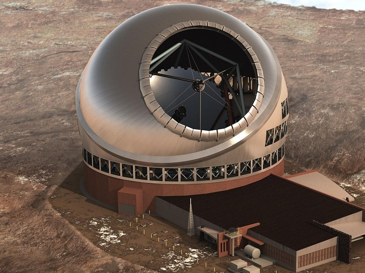 Il rendering del Thirty Meter Telescope (Courtesy Tmt Observatory Corporation)