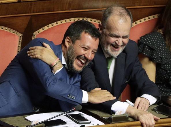 Matteo Salvini e Roberto Calderoli