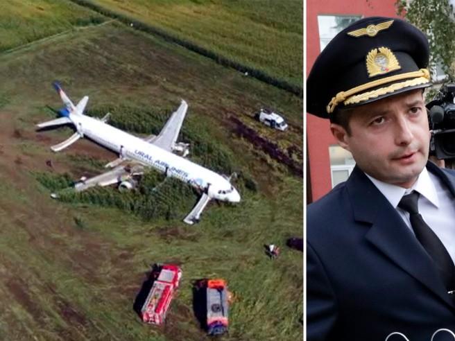 Russia, l'atterraggio d'emergenza in un campo: così il comandante Yusupov ha salvato 226 passeggeri