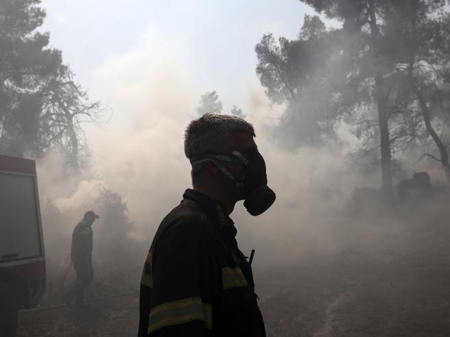 La Grecia di nuovo in fiamme, brucia l'isola di Evia foto |video