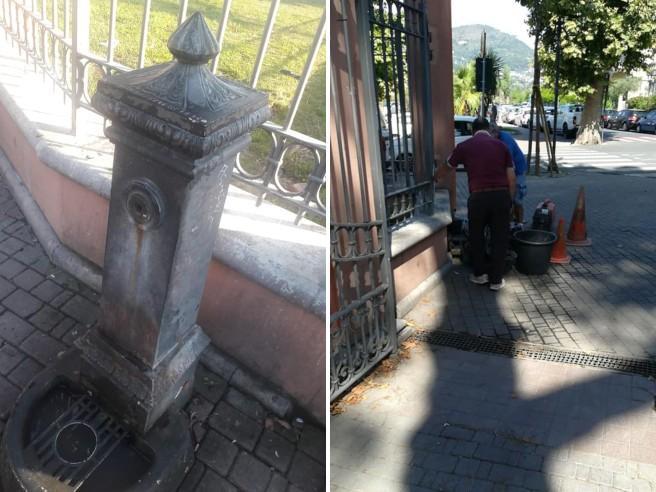Ventimiglia, il sindaco  fa smurare la fontana dove bevevano e si lavavano gli immigrati