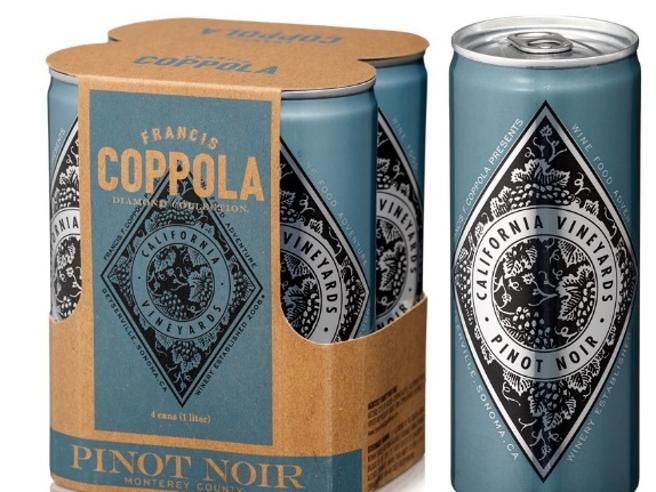 Il vino? Finisce in lattina Francis Ford Coppola guida la nuova moda