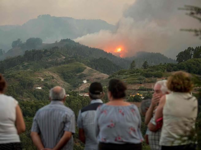 Gran Canaria, oltre 8mila evacuati per un incendioI pompieri   tra le fiamme