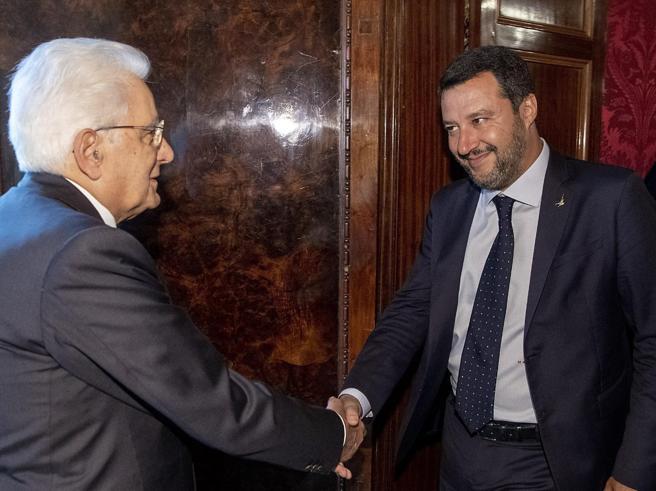 Consultazioni, Salvini: «Italia non perda tempo. Subito al voto»