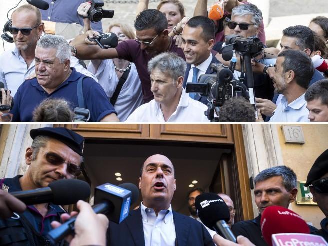 L'incontro Di Maio-Zingaretti a casa di Spadafora: le cortesie e i sospetti