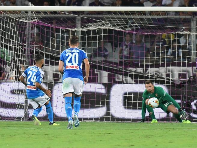 Serie A, il Napoli batte la  Fiorentina  al Franchi 4-3