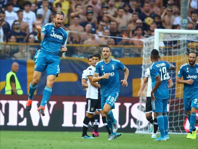 La Juventus vince la prima partita del Campionato:   un gol