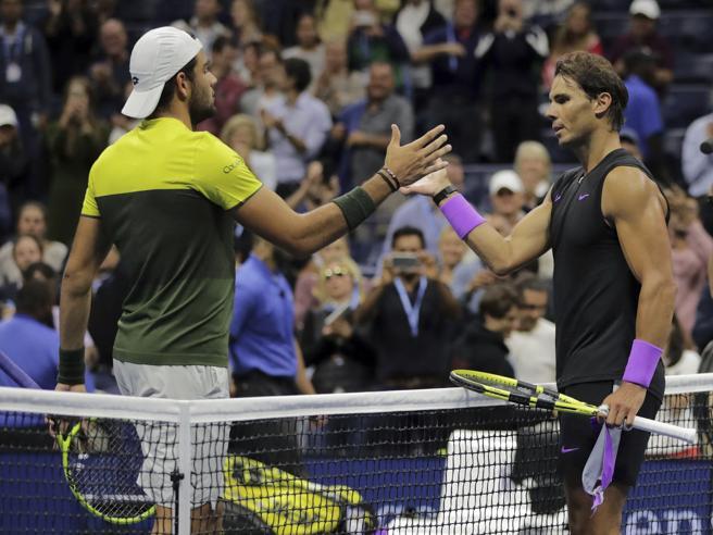 Tennis, Us Open: Berrettini resiste solo un set, poi cede a Nadal