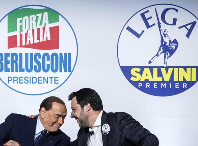 Salvini e Berlusconi, il vertice: «Il 19 ottobre a Roma tutti in piazza contro il governo»