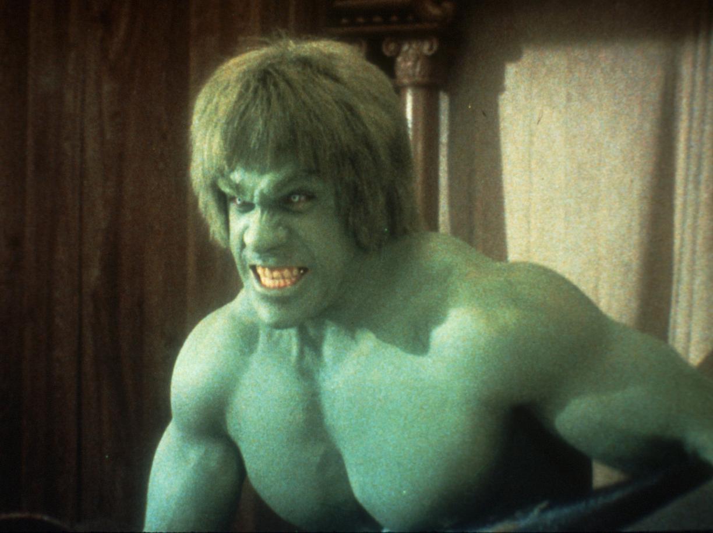 Lou Ferrigno nello storico telefilm dedicato all'incredibile Hulk