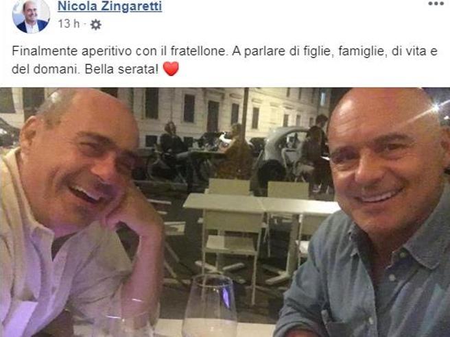 L'aperitivo dei fratelli Zingaretti, oltre la politica: «Serata a parlare di figlie e di vita»