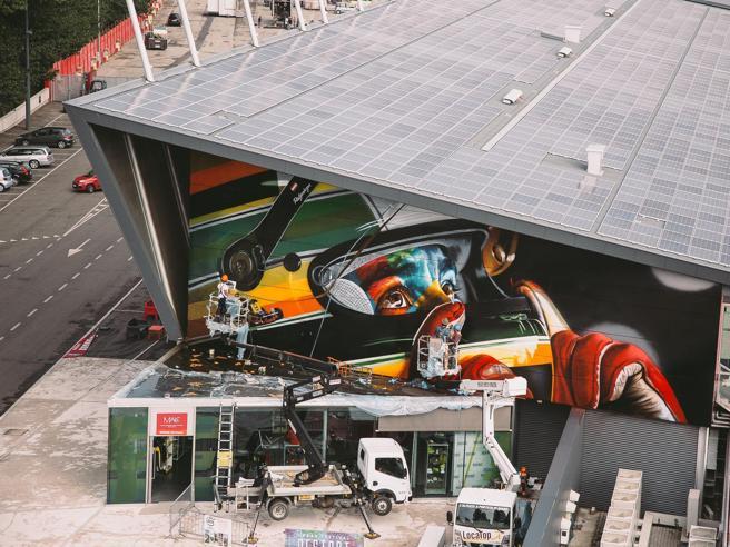A Imola un nuovo murale per omaggiare Ayrton Senna