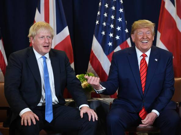 Boris Johnson e Donald Trump (Afp)