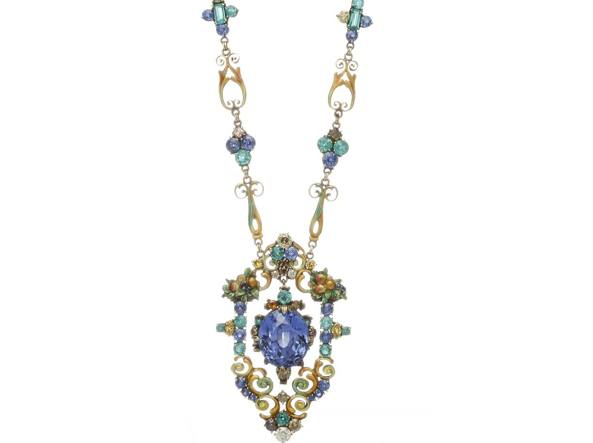 Tiffany & Co, collier del 1922-1923, disegnato da M. Overbeck con L.C. Tiffany