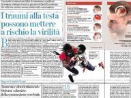 Su Corriere Salute: i traumi alla testa possono mettere a rischio la virilità
