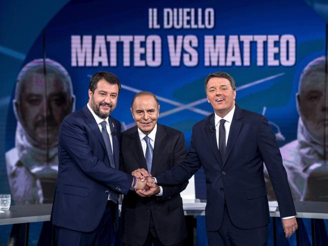 Sul ring di Vespa Renzi ha battuto Salvini, ma è una vittoria che non serve a nulla