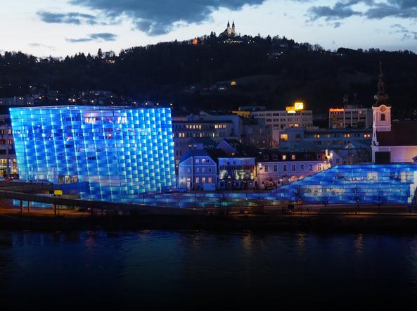 Il museo Ars Electronica Center a Linz