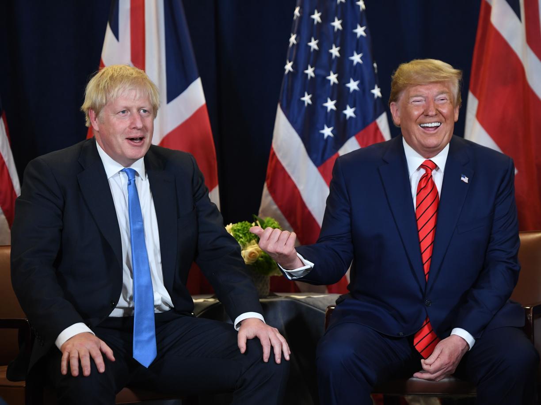 Boris Johnson con Donald Trump (Afp)