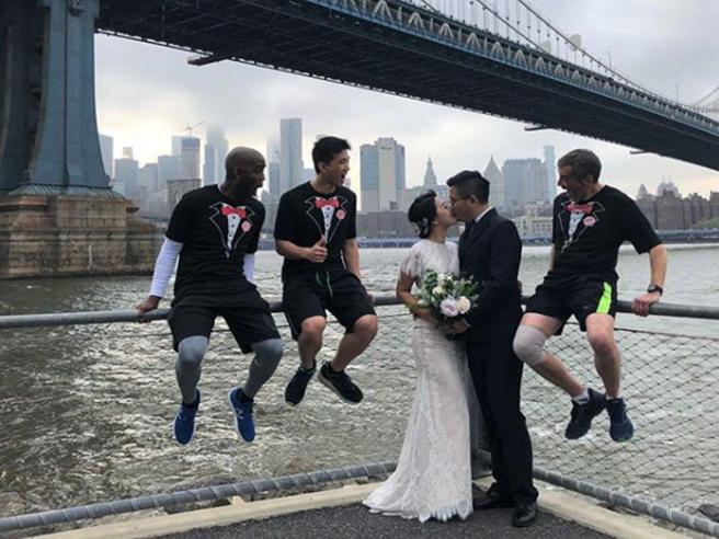 A New York i runner che «si imbucano» nei matrimoni