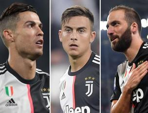 Cristiano Ronaldo, 34 anni, Paulo Dybala, 25, Gonzalo Higuain, 31 (Getty Images, Afp, Getty Images)