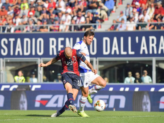 Bologna-Sampdoria 2-1, Palacio e Bani per la terza vittoria rossoblù