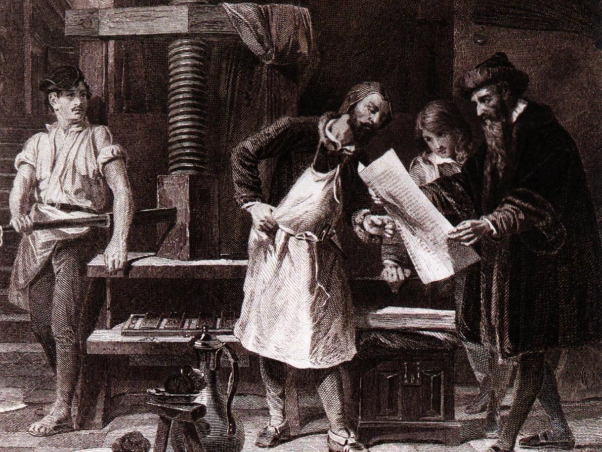 La macchina da stampa di Johannes Gutenberg