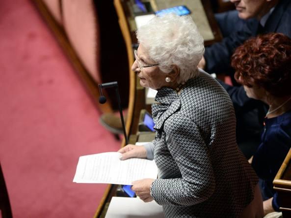 La senatrice a vita Liliana Segre (Lapresse)
