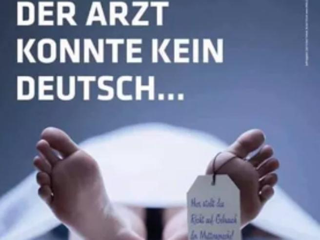 A Bolzano manifesti xenofobi contro i medici italiani |  due denunce in procura