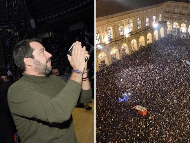 Salvini alla disfida di Bologna e il segnale della piazza anti-Lega